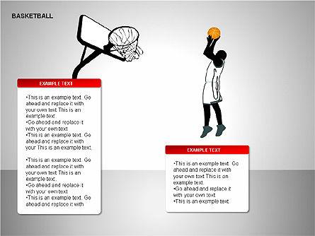 Basketball Shapes, Slide 5, 00142, Shapes — PoweredTemplate.com