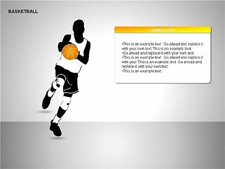 Basketball Shapes, Slide 7, 00142, Shapes — PoweredTemplate.com