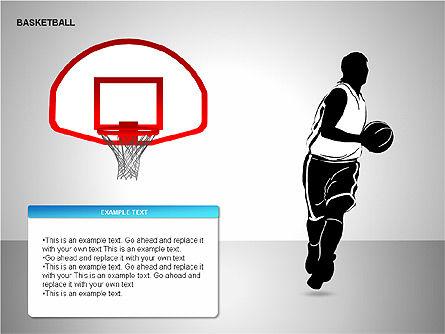 Basketball Shapes, Slide 8, 00142, Shapes — PoweredTemplate.com