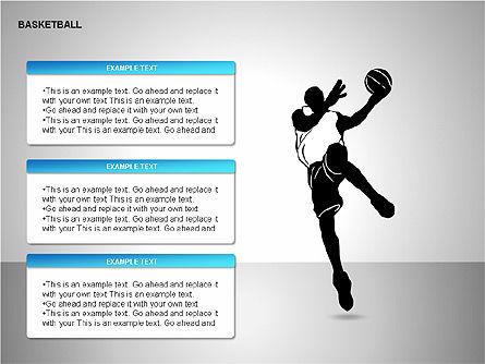 Basketball Shapes, Slide 9, 00142, Shapes — PoweredTemplate.com
