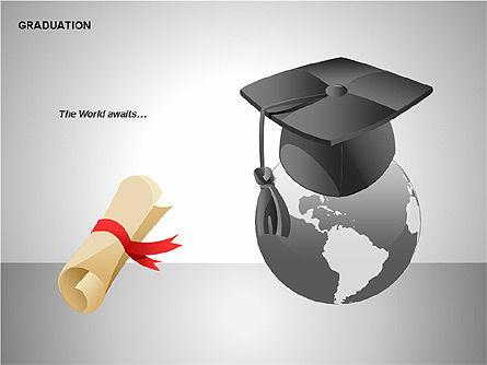 Graduation Shapes, Slide 10, 00143, Shapes — PoweredTemplate.com