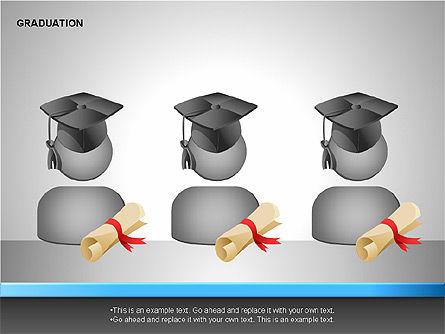 Graduation Shapes, Slide 11, 00143, Shapes — PoweredTemplate.com
