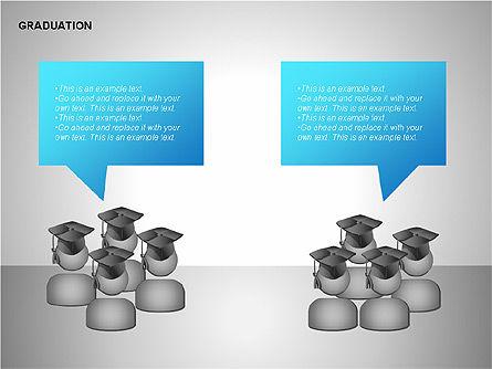 Graduation Shapes, Slide 12, 00143, Shapes — PoweredTemplate.com