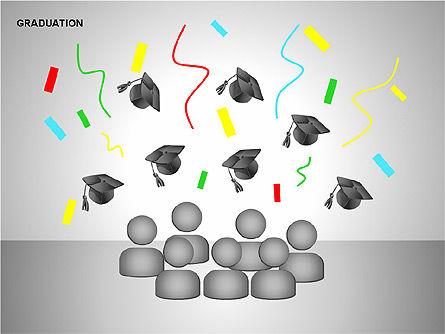 Graduation Shapes, Slide 13, 00143, Shapes — PoweredTemplate.com