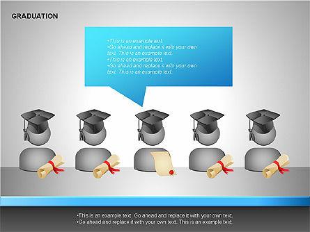 Graduation Shapes, Slide 14, 00143, Shapes — PoweredTemplate.com