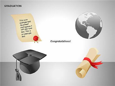 Graduation Shapes, Slide 15, 00143, Shapes — PoweredTemplate.com