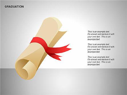 Graduation Shapes, Slide 5, 00143, Shapes — PoweredTemplate.com