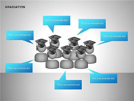 Graduation Shapes, Slide 6, 00143, Shapes — PoweredTemplate.com