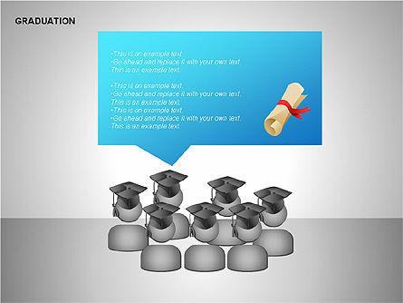 Graduation Shapes, Slide 7, 00143, Shapes — PoweredTemplate.com