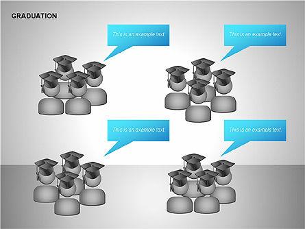 Graduation Shapes, Slide 9, 00143, Shapes — PoweredTemplate.com
