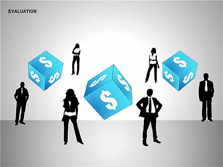 Evaluation Shapes, Slide 15, 00144, Shapes — PoweredTemplate.com
