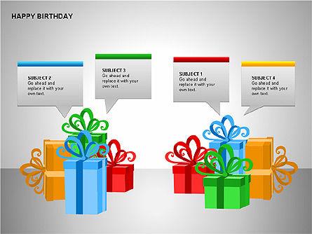 Happy Birthday Shapes, Slide 10, 00145, Shapes — PoweredTemplate.com