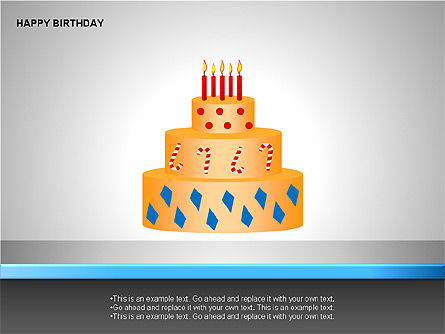 Happy Birthday Shapes, Slide 11, 00145, Shapes — PoweredTemplate.com
