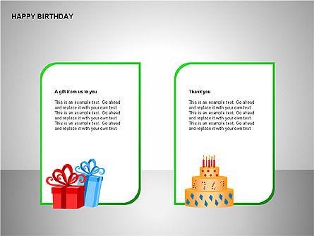 Happy Birthday Shapes, Slide 12, 00145, Shapes — PoweredTemplate.com
