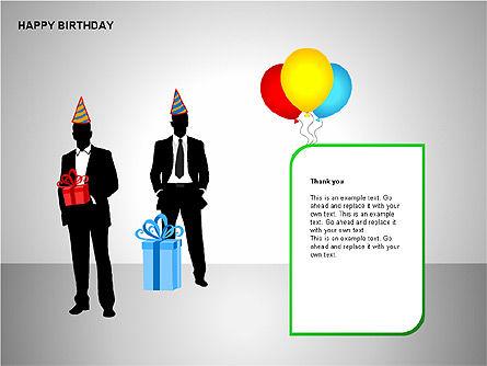 Happy Birthday Shapes, Slide 13, 00145, Shapes — PoweredTemplate.com