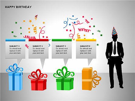 Happy Birthday Shapes, Slide 14, 00145, Shapes — PoweredTemplate.com