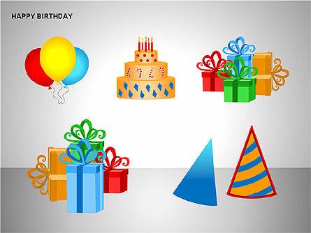 Happy Birthday Shapes, Slide 15, 00145, Shapes — PoweredTemplate.com