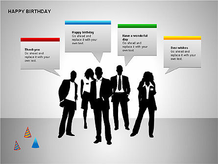 Happy Birthday Shapes, Slide 2, 00145, Shapes — PoweredTemplate.com
