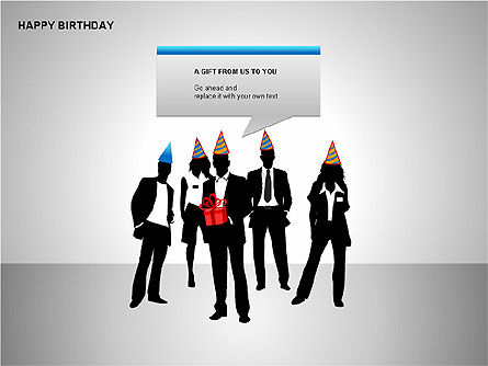 Happy Birthday Shapes, Slide 3, 00145, Shapes — PoweredTemplate.com