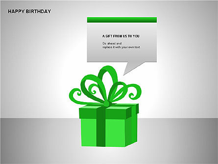 Happy Birthday Shapes, Slide 4, 00145, Shapes — PoweredTemplate.com