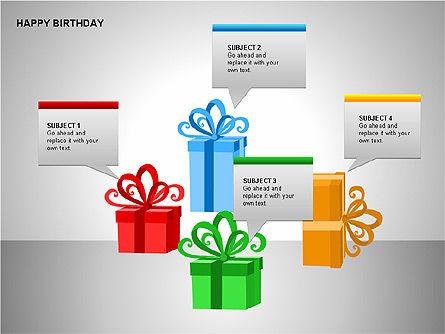 Happy Birthday Shapes, Slide 5, 00145, Shapes — PoweredTemplate.com