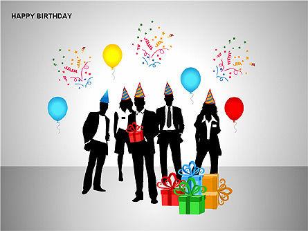 Happy Birthday Shapes, Slide 6, 00145, Shapes — PoweredTemplate.com