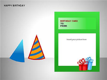 Happy Birthday Shapes, Slide 7, 00145, Shapes — PoweredTemplate.com