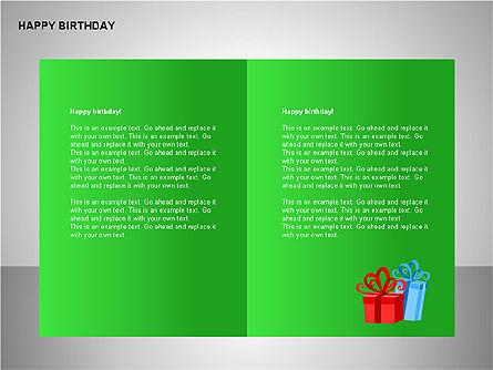 Happy Birthday Shapes, Slide 8, 00145, Shapes — PoweredTemplate.com