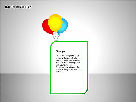 Happy Birthday Shapes, Slide 9, 00145, Shapes — PoweredTemplate.com