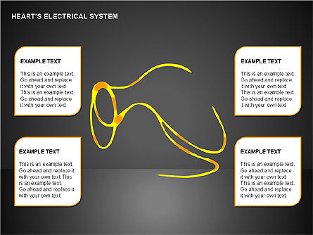 Free Heart's Electrical System, Slide 14, 00146, Medical Diagrams and Charts — PoweredTemplate.com