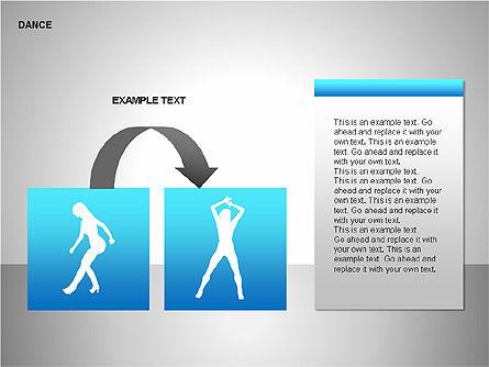 Dance Shapes, Slide 13, 00147, Shapes — PoweredTemplate.com