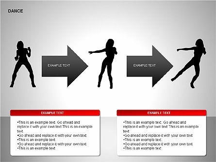 Dance Shapes, Slide 6, 00147, Shapes — PoweredTemplate.com