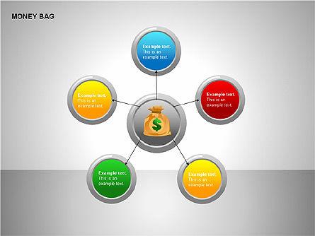 Money Bag Shapes, Slide 10, 00148, Shapes — PoweredTemplate.com
