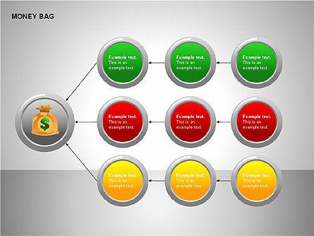 Money Bag Shapes, Slide 11, 00148, Shapes — PoweredTemplate.com