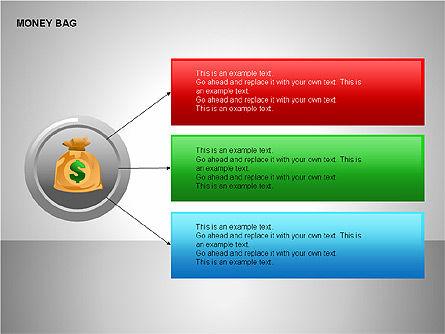 Money Bag Shapes, Slide 13, 00148, Shapes — PoweredTemplate.com