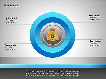 Money Bag Shapes, Slide 14, 00148, Shapes — PoweredTemplate.com