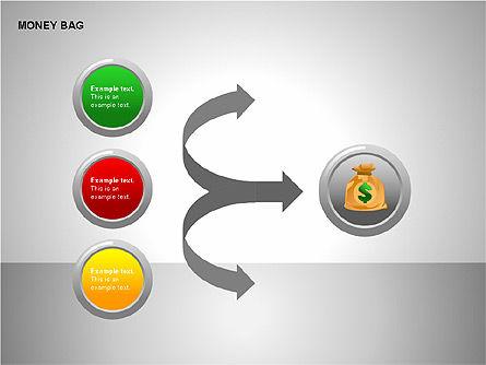 Money Bag Shapes, Slide 15, 00148, Shapes — PoweredTemplate.com