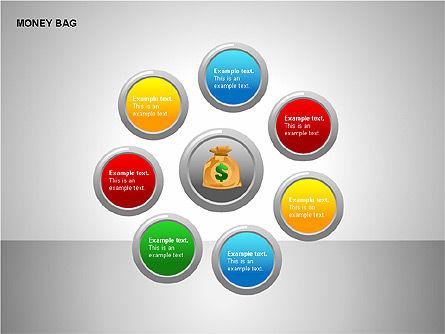Money Bag Shapes, Slide 5, 00148, Shapes — PoweredTemplate.com