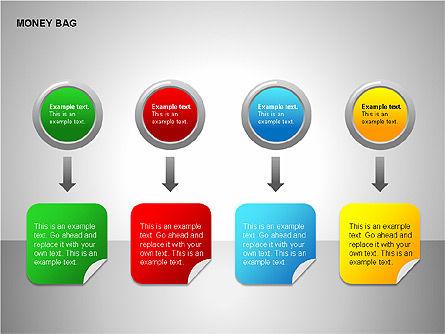 Money Bag Shapes, Slide 6, 00148, Shapes — PoweredTemplate.com
