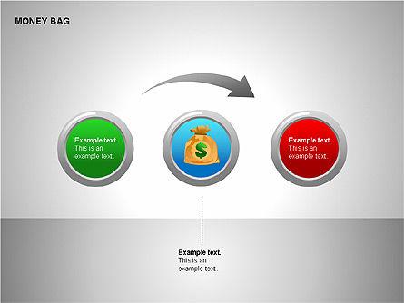Money Bag Shapes, Slide 7, 00148, Shapes — PoweredTemplate.com