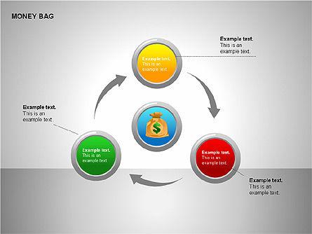 Money Bag Shapes, Slide 8, 00148, Shapes — PoweredTemplate.com