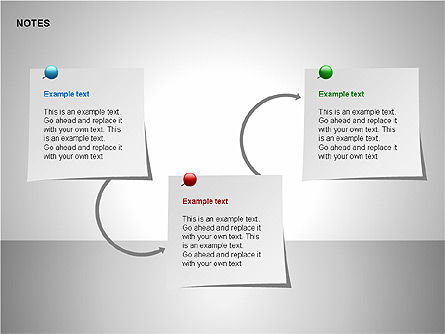 Notes Shapes & Icons, Slide 10, 00150, Shapes — PoweredTemplate.com