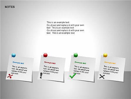 Notes Shapes & Icons, Slide 11, 00150, Shapes — PoweredTemplate.com
