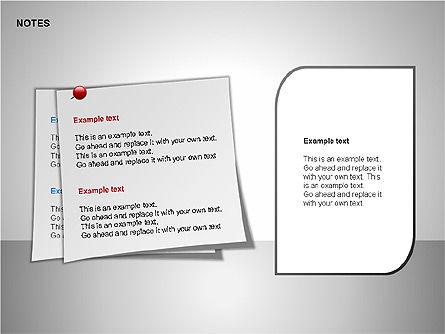 Notes Shapes & Icons, Slide 6, 00150, Shapes — PoweredTemplate.com