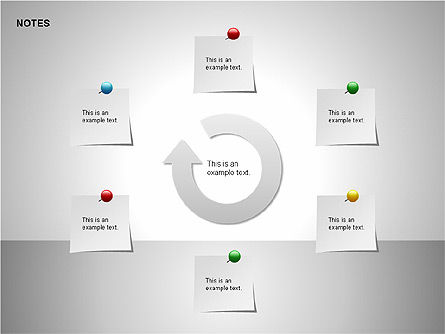Notes Shapes & Icons, Slide 7, 00150, Shapes — PoweredTemplate.com