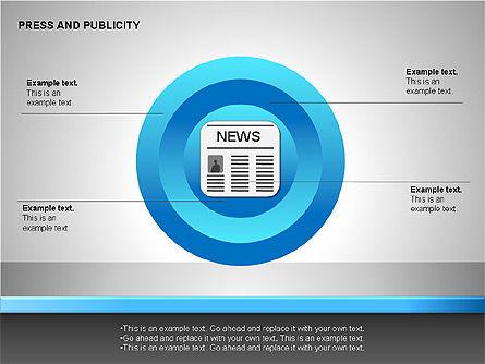 Press & Publicity Diagrams, Slide 10, 00152, Shapes — PoweredTemplate.com