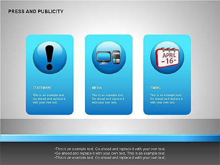 Press & Publicity Diagrams, Slide 11, 00152, Shapes — PoweredTemplate.com