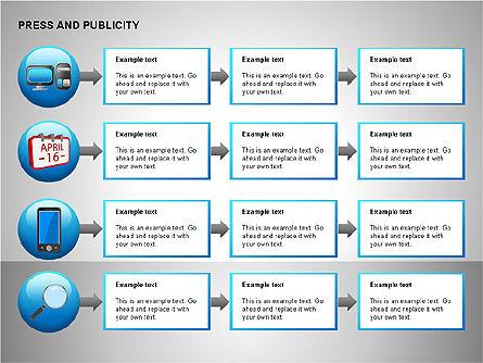 Press & Publicity Diagrams, Slide 12, 00152, Shapes — PoweredTemplate.com