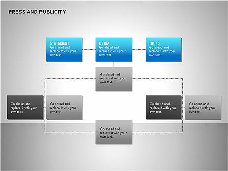 Press & Publicity Diagrams, Slide 13, 00152, Shapes — PoweredTemplate.com