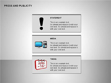 Press & Publicity Diagrams, Slide 14, 00152, Shapes — PoweredTemplate.com